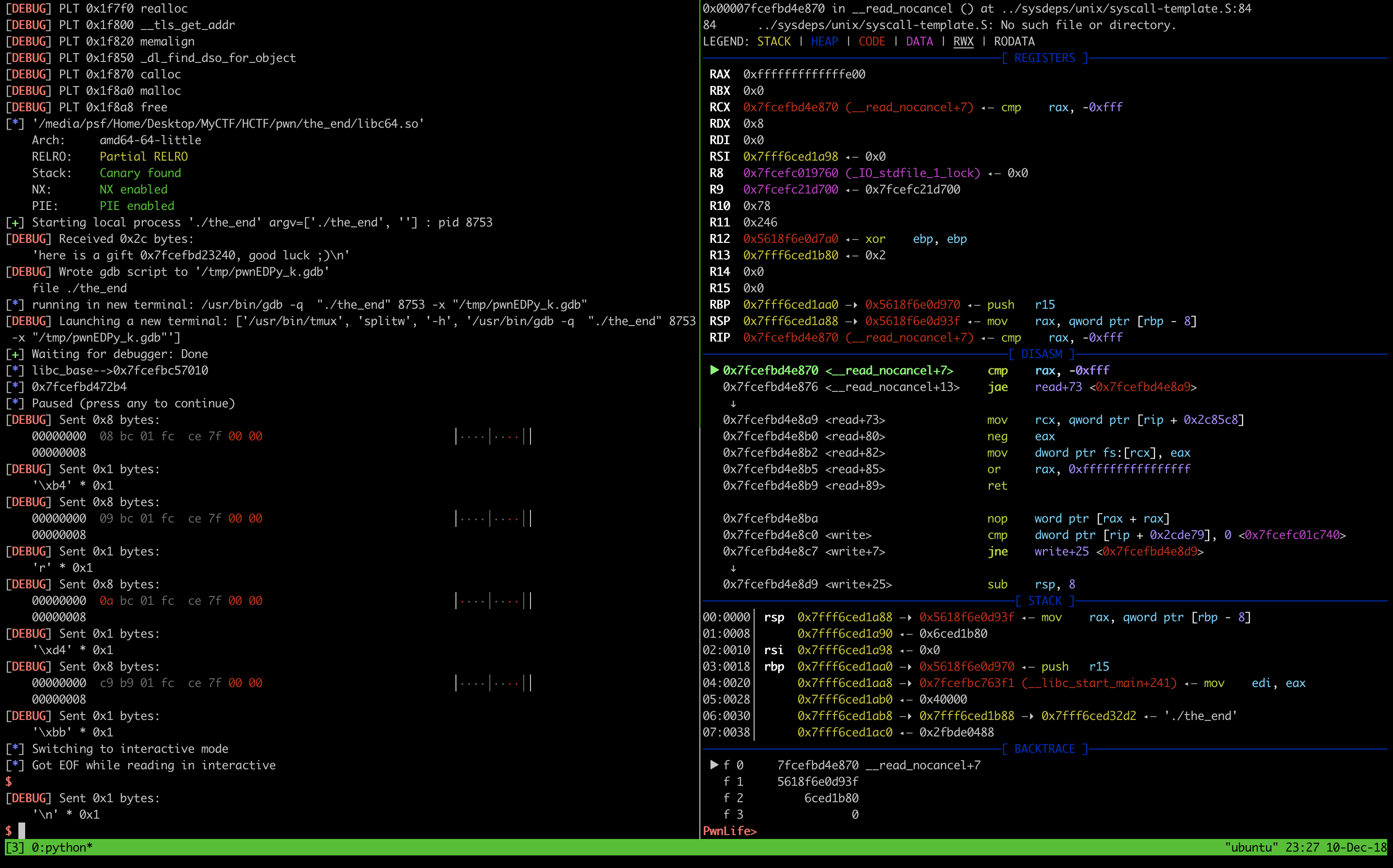 Docker for Mac and gdb GUI windows